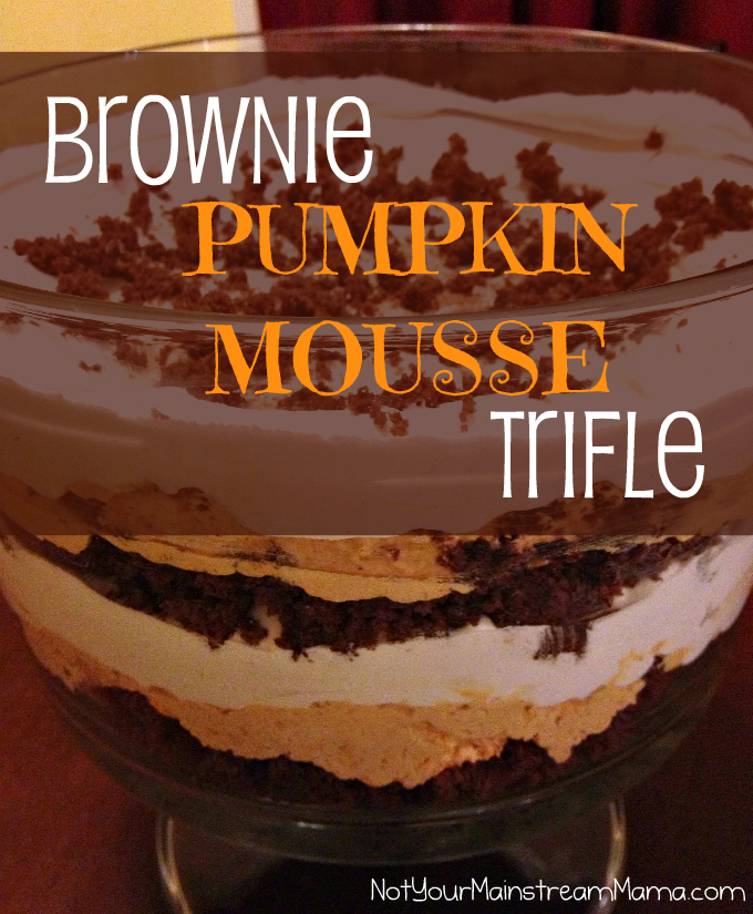 Brownie Pumpkin Mousse Trifle Dessert Recipe