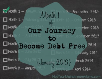 Our Journey To Become Debt Free: January 2013