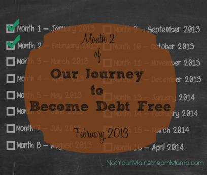 Our Journey to Become Debt Free: February 2013