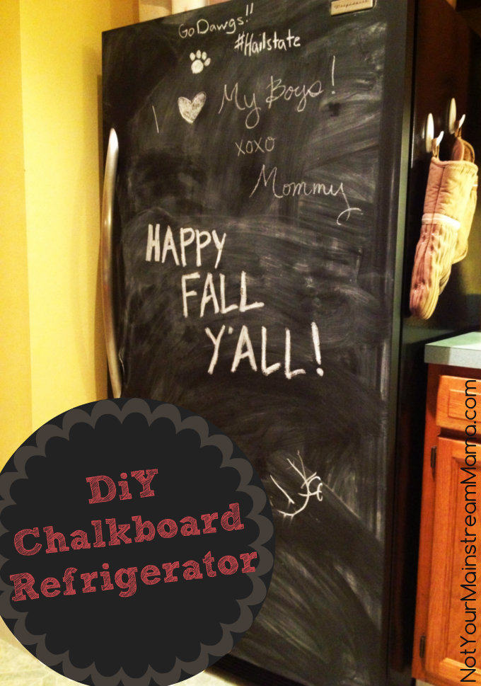 DiY Chalkboard Refrigerator Feature