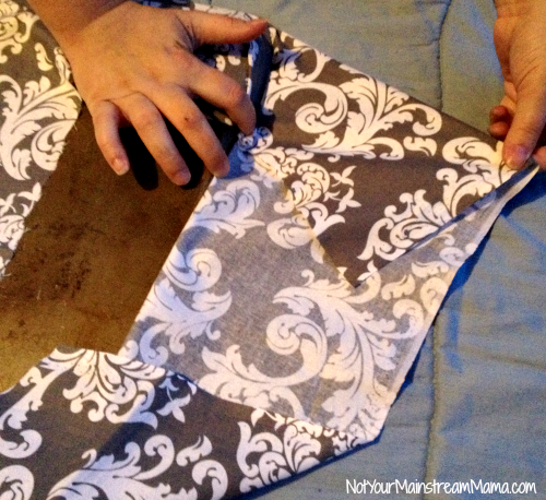 DiY Fabric Tray Back