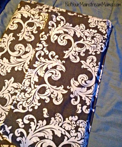 DiY Fabric Tray Finished Back