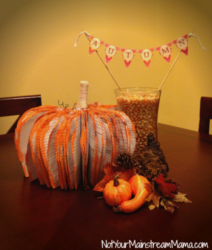 Fall Centerpiece with Autumn Banner