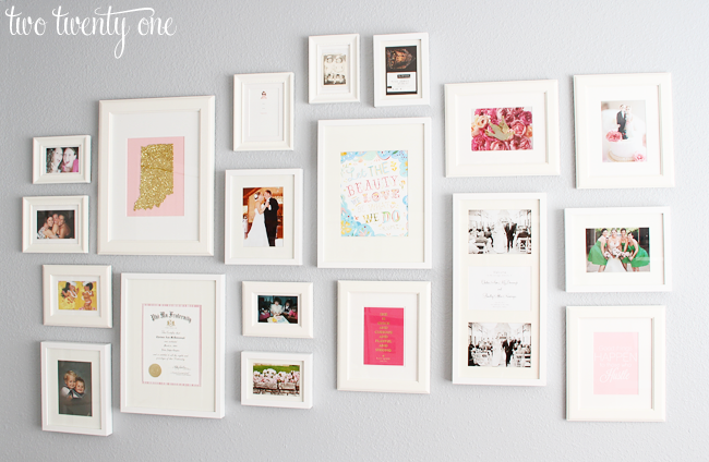 White Framed & Matted Gallery Wall