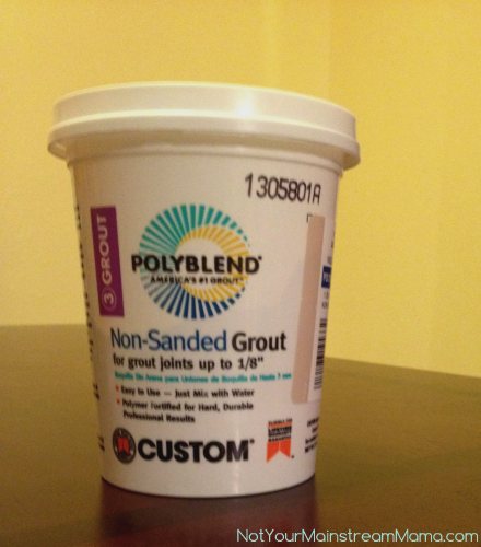 Non-Sanded Grout Chalkboard Paint