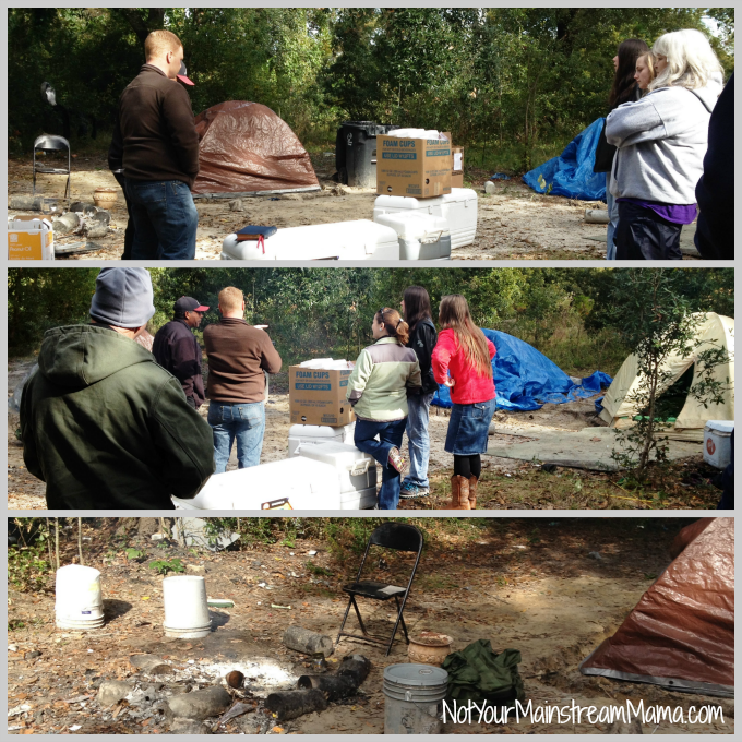 Thanksgiving Homeless Camp