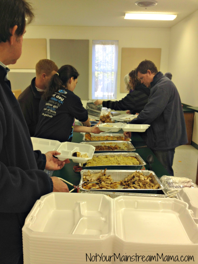 Thanksgiving Making To-Go Plates for Homeless - Copy