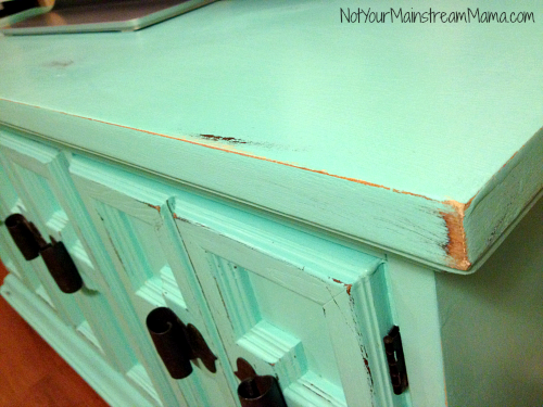 Buffet Media Center Corner After Chalk Paint