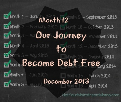 Month 12 of Our Journey to Become Debt Free