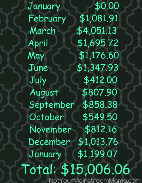 Monthly Snowball Totals