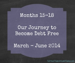 Our Journey to Become Debt Free 15-18