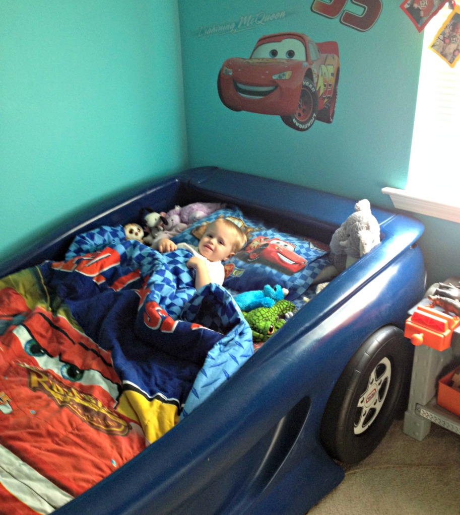 Lucas in Car Bed